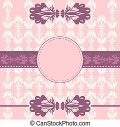Decorative card frame background