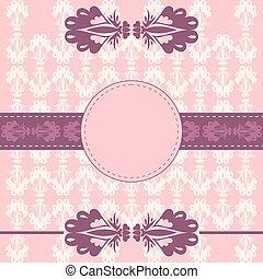 Decorative card frame background
