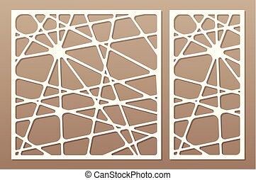 Decorative card set for cutting laser or plotter. Line art ...