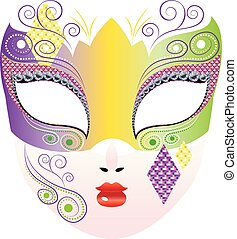 Decorative Carnival Mask - Fashion decorative carnival face...