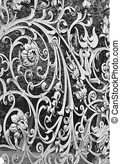 Decorative cast-iron fence of Mikhailovsky Garden in St...