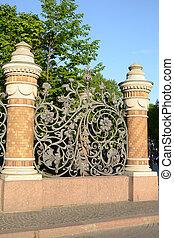 Decorative cast-iron fence. Mikhailovsky Garden. St...