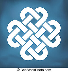 Decorative Celtic Love Knot, also called Quadruple Solomon's...