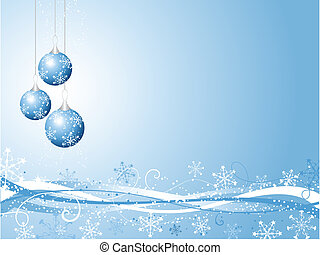 Decorative Christmas background - Abstract decorative...