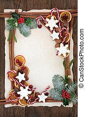 Decorative Christmas Background Border - Christmas...
