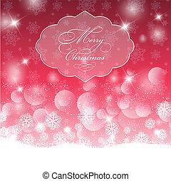 Decorative Christmas background with bokhe lights design