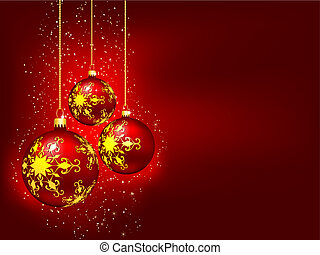 Christmas baubles - Decorative Christmas baubles background