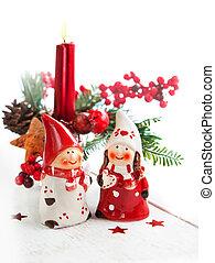 Decorative Christmas candle and Christmas decor