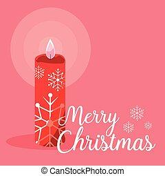 decorative christmas candle icon
