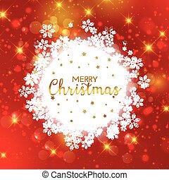 Decorative Christmas snowflake background
