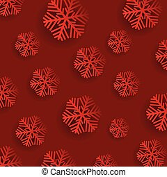 Christmas snowflakes on a red background