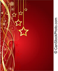 Christmas star background - Decorative Christmas star...