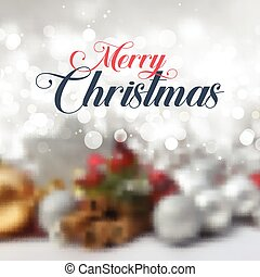 Decorative christmas text on defocussed background 2711