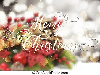 decorative christmas text on defocussed image 2210