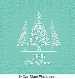 decorative christmas tree design on blue background