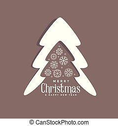decorative christmas tree design with snowflakes