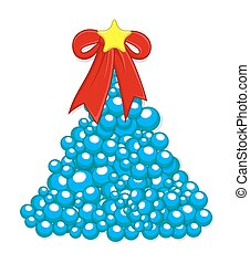 Christmas Tree Made from Blue Balls