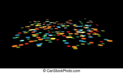 Decorative color spots points background shaking,abstract design backdrop.