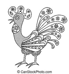 Decorative colored rooster