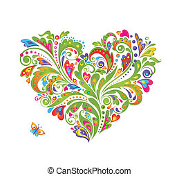 Decorative colorful heart shape