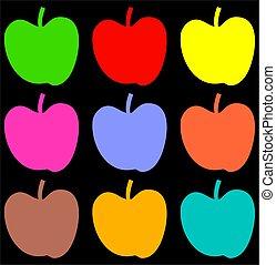colourful apple