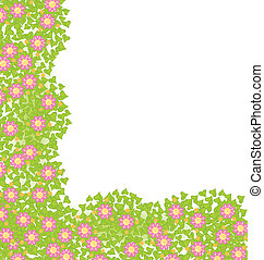 Decorative corner element with pink flowers