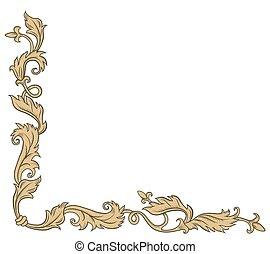 Decorative corner ornament - Decorative corner ornament in...