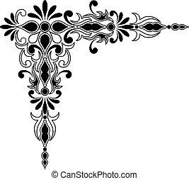 Decorative corner ornament for decorative