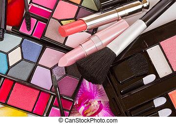 Decorative cosmetics close up - Decorative cosmetics - eye ...