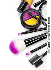 cosmetics - Decorative cosmetics isolated over white