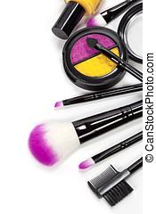 cosmetics - Decorative cosmetics isolated over white