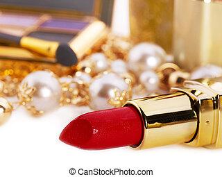 Decorative cosmetics with lipstick. - Decorative cosmetics ...
