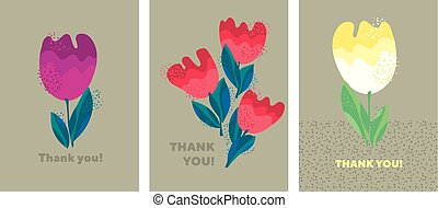 Decorative cute bright tulip flower.