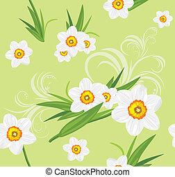 Decorative daffodil background