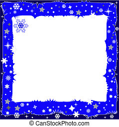 Decorative dark blue framework