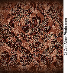 Decorative dark chocolate background