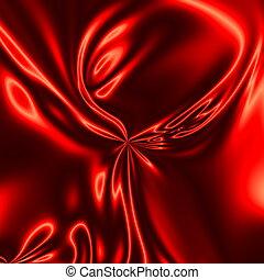 Decorative dark red satin wrinkle.