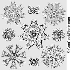 Decorative design and ornamental elements