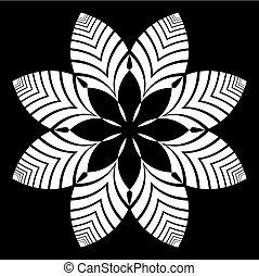 Decorative design element. Floral pattern.