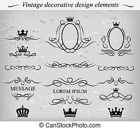 Decorative design elements. Vector.