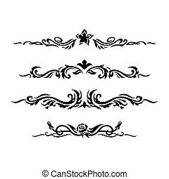 Decorative design elements. Vector illustration.