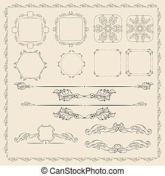 Decorative design elements vector set.