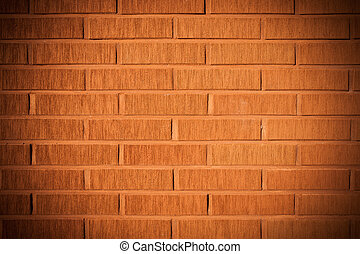 Decorative design facade brick wall