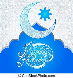 decorative design for holy month of muslim community festival Ramadan Kareem, invitation card, vector illustration eps10
