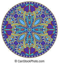 decorative design of circle dish template, round geometric...
