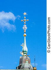 Decorative details on top of a church