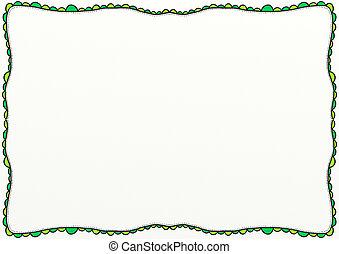 Decorative Doodle Page Border Pattern