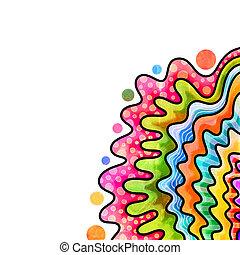 Decorative Doodly Watercolour Page Border