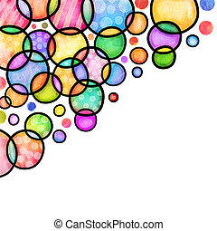 Decorative Doodly Watercolour Page Border Drops