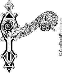 door handle - Decorative door handle on the white